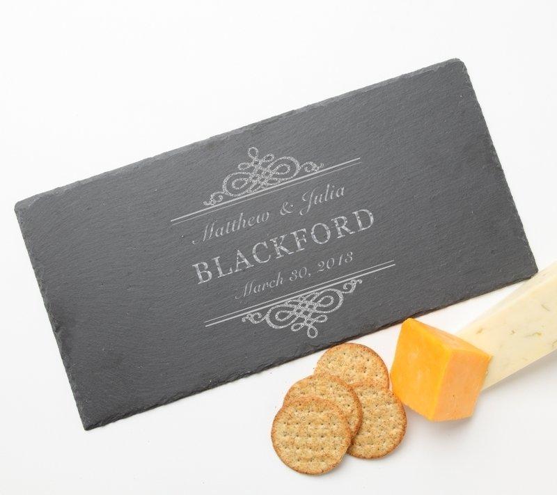 Personalized Slate Cheese Board 15 x 7 DESIGN 14