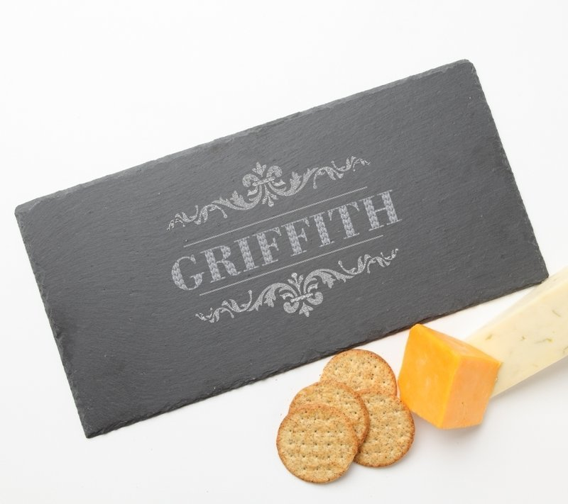 Personalized Slate Cheese Board 15 x 7 DESIGN 16