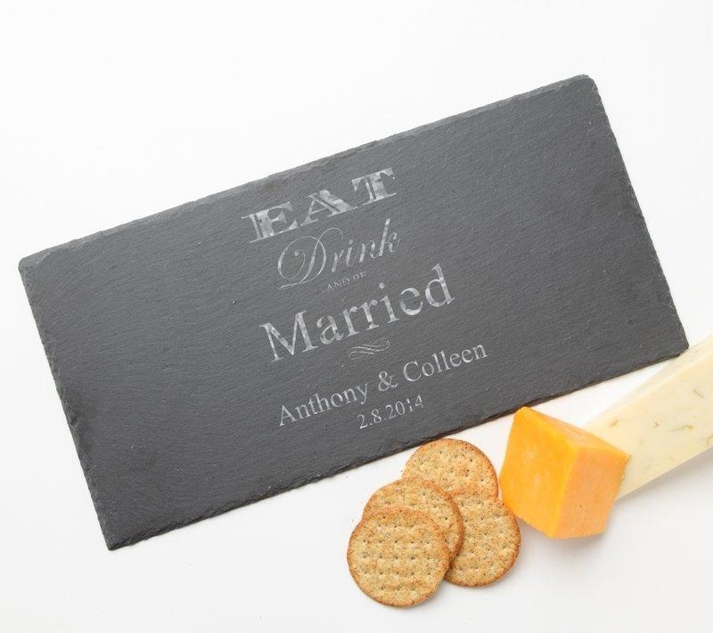 Personalized Slate Cheese Board 15 x 7 DESIGN 17