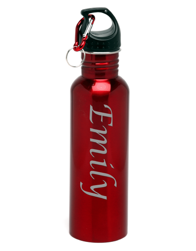 Personalized, Engraved 26 oz Stainless Steel Water Bottle Name Vertical