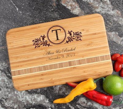 Personalized Bamboo Cutting Board Engraved 12 x 8 DESIGN 15