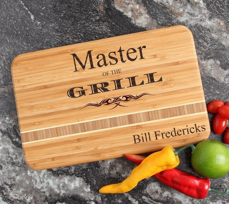 Personalized Bamboo Cutting Board Engraved 12 x 8 DESIGN 23