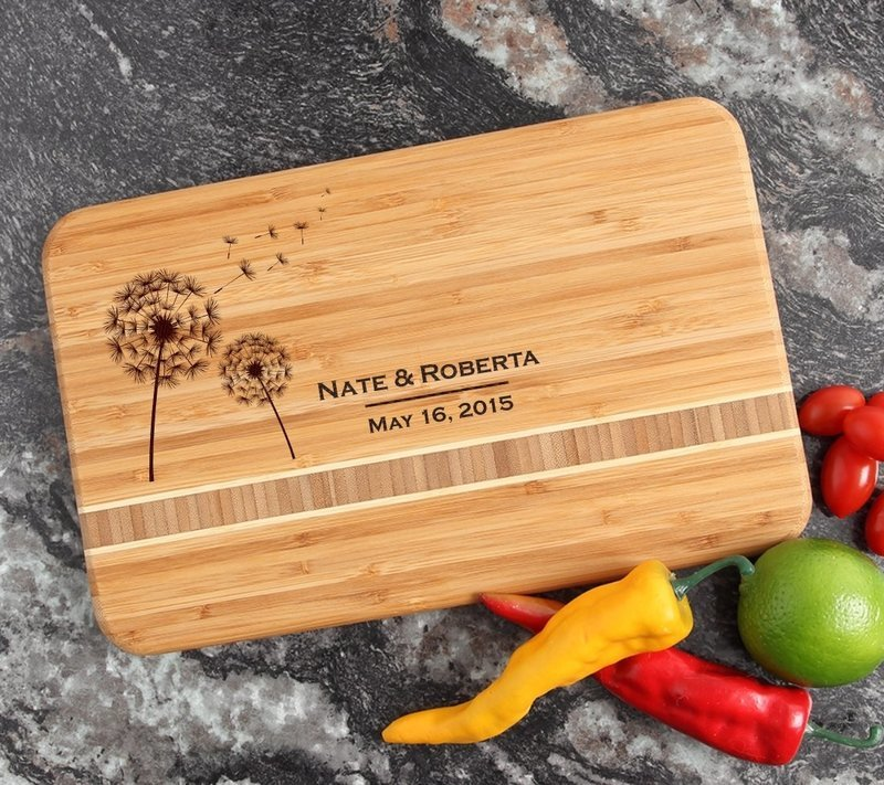 Personalized Bamboo Cutting Board Engraved 12 x 8 DESIGN 28