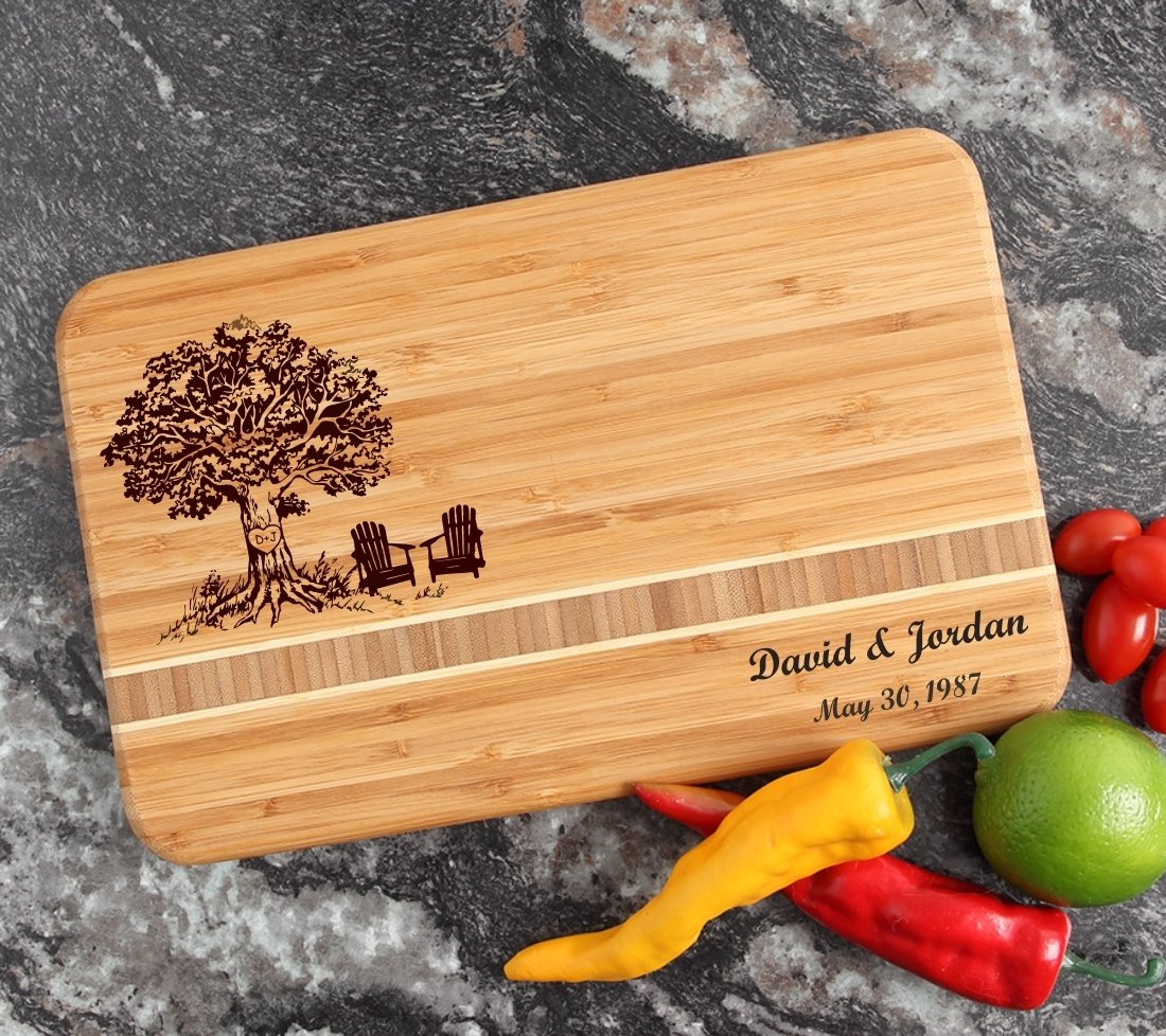 Personalized Bamboo Cutting Board Engraved 12 x 8 DESIGN 31