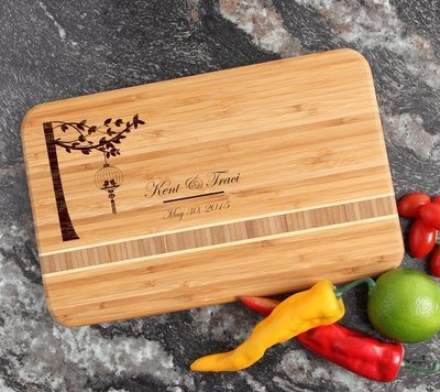 Personalized Bamboo Cutting Board Engraved 12 x 8 DESIGN 32