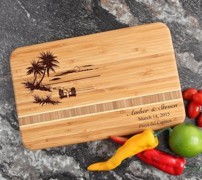 Personalized Bamboo Cutting Board Engraved 12 x 8 DESIGN 33