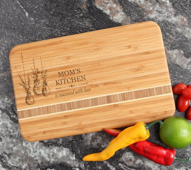 Personalized Bamboo Cutting Board Engraved 12 x 8 DESIGN 37