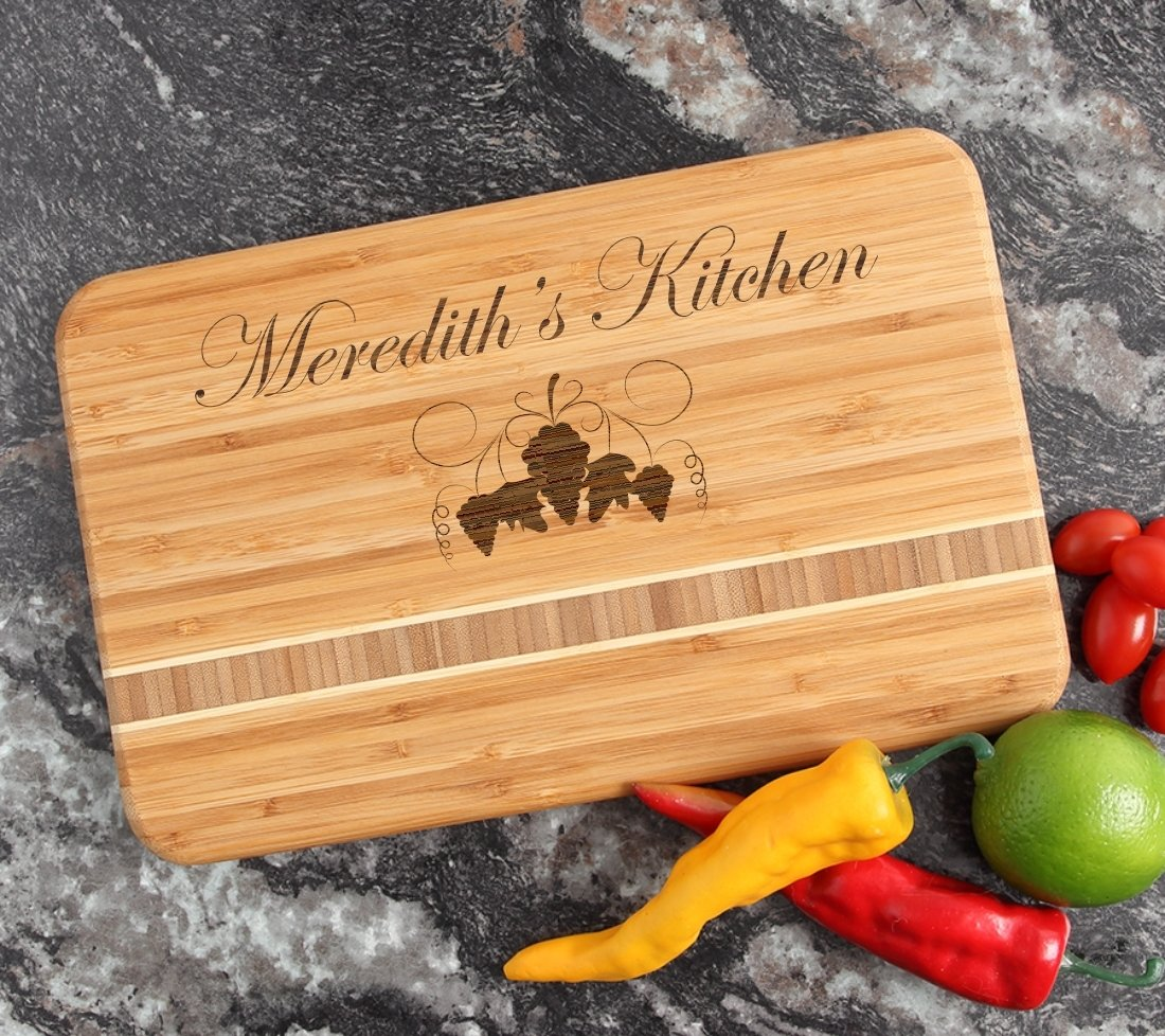 Personalized Bamboo Cutting Board Engraved 12 x 8 DESIGN 40