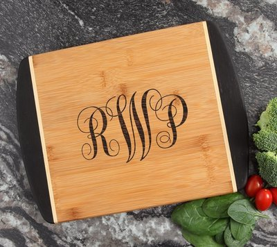 Cutting Board Engraved Personalized Bamboo 12 x 9 DESIGN 1