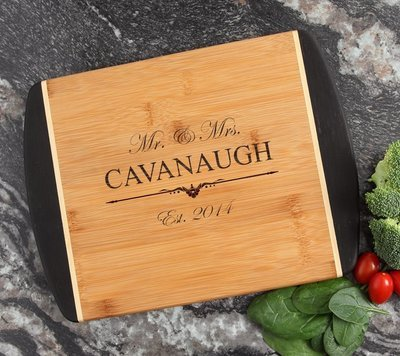 Cutting Board Engraved Personalized Bamboo 12 x 9 DESIGN 19