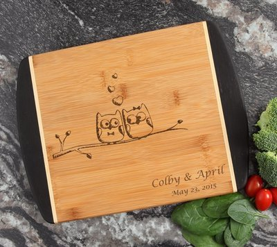 Cutting Board Engraved Personalized Bamboo 12 x 9 DESIGN 29
