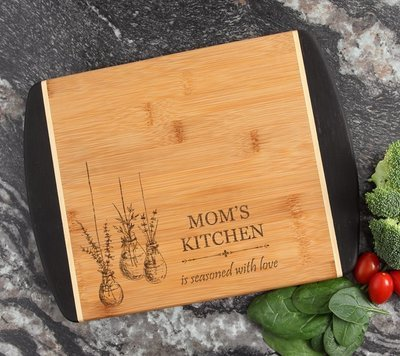 Cutting Board Engraved Personalized Bamboo 12 x 9 DESIGN 37