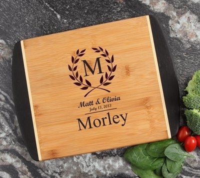 Cutting Board Engraved Personalized Bamboo 12 x 9 DESIGN 6