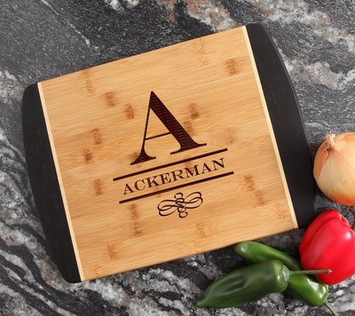 Engraved Cutting Board Personalized Bamboo 15 x 11 DESIGN 12