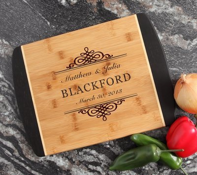 Engraved Cutting Board Personalized Bamboo 15 x 11 DESIGN 14