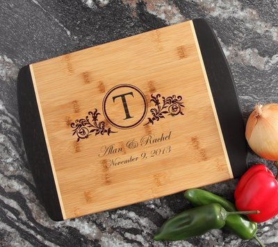 Engraved Cutting Board Personalized Bamboo 15 x 11 DESIGN 15