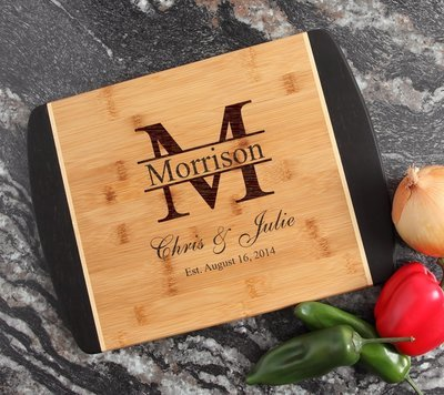 Engraved Cutting Board Personalized Bamboo 15 x 11 DESIGN 24