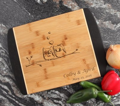 Engraved Cutting Board Personalized Bamboo 15 x 11 DESIGN 29