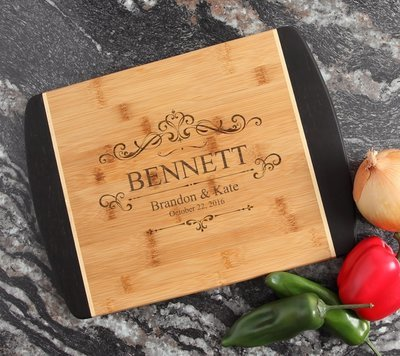 Engraved Cutting Board Personalized Bamboo 15 x 11 DESIGN 35
