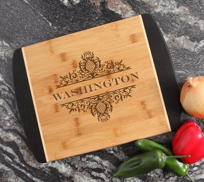 Engraved Cutting Board Personalized Bamboo 15 x 11 DESIGN 36