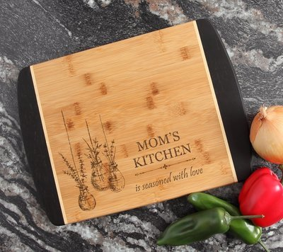 Engraved Cutting Board Personalized Bamboo 15 x 11 DESIGN 37