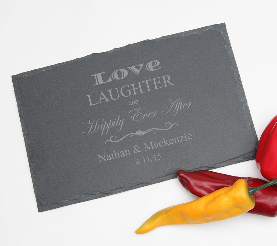 Personalized Slate Cheese Board 11 x 7 DESIGN 26