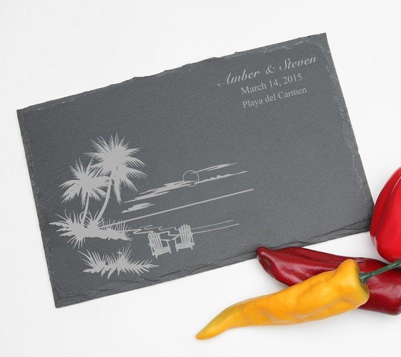 Personalized Slate Cheese Board 11 x 7 DESIGN 33