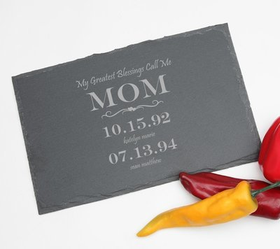 Personalized Slate Cheese Board 11 x 7 DESIGN 38