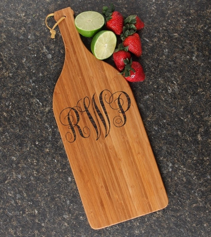 Personalized Cutting Board Engraved Bamboo 16 x 5 DESIGN 1