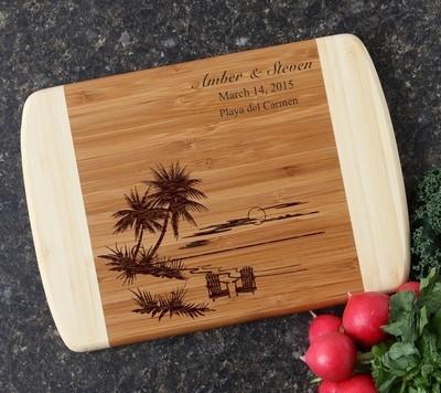 Personalized Cutting Board Custom Engraved 10 x 7 DESIGN 33