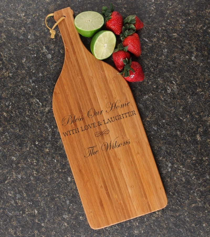 Personalized Cutting Board Engraved Bamboo 16 x 5 DESIGN 22