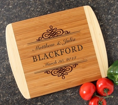 Personalized Cutting Board Custom Engraved 14x11 DESIGN 14