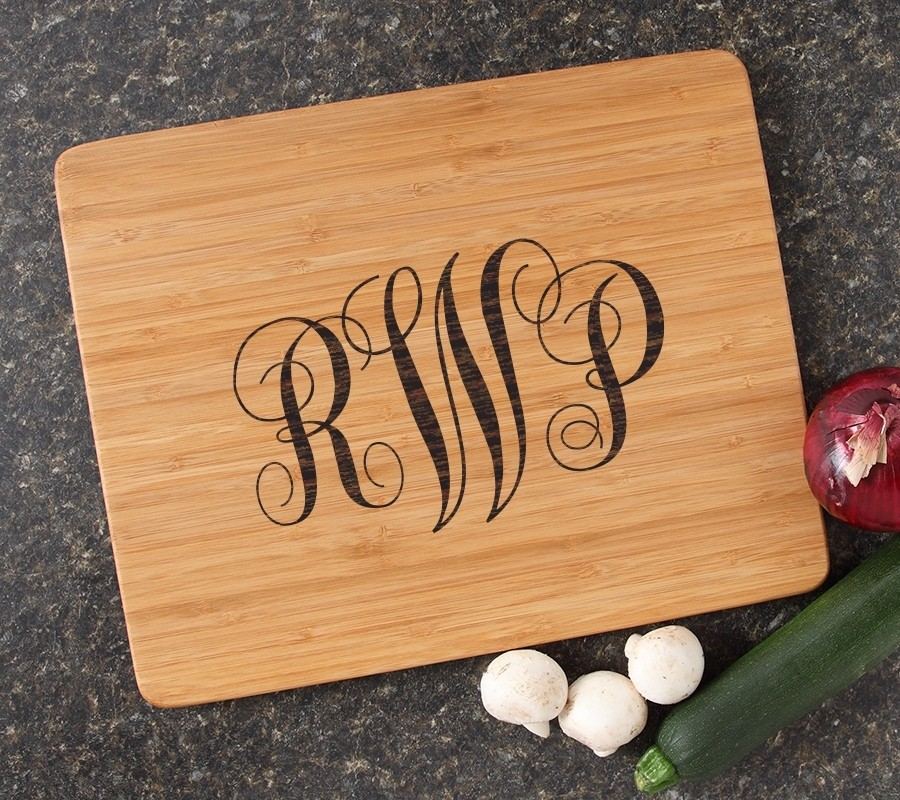 Engraved Bamboo Cutting Board Personalized 15x12 DESIGN 1