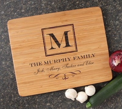 Engraved Bamboo Cutting Board Personalized 15x12 DESIGN 41