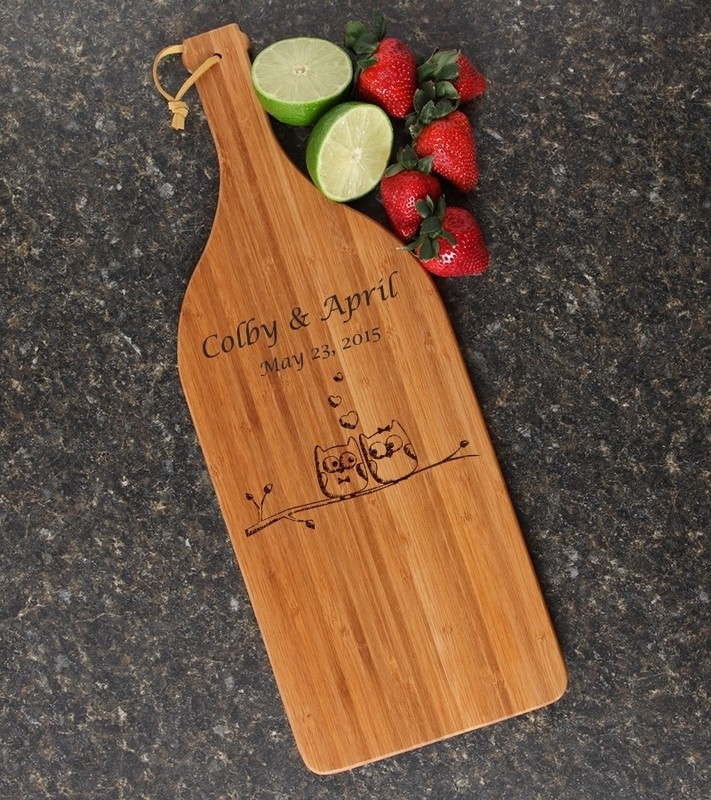 Personalized Cutting Board Engraved Bamboo 16 x 5 DESIGN 29