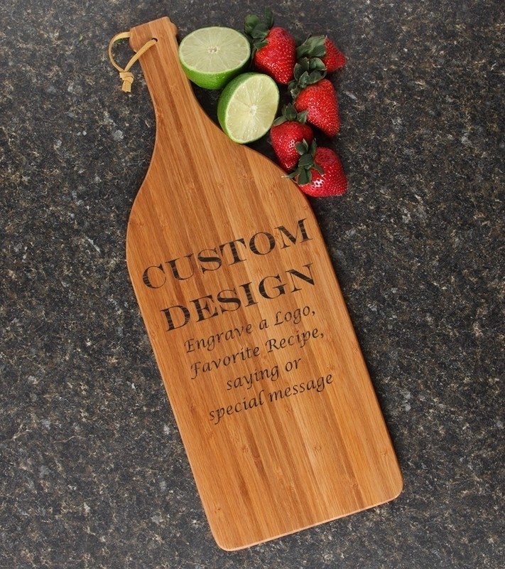 Personalized Cutting Board Engraved Bamboo 16 x 5 DESIGN 13
