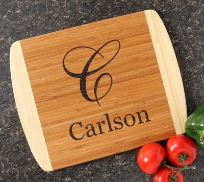 Personalized Cutting Board Custom Engraved 14x11 DESIGN 3