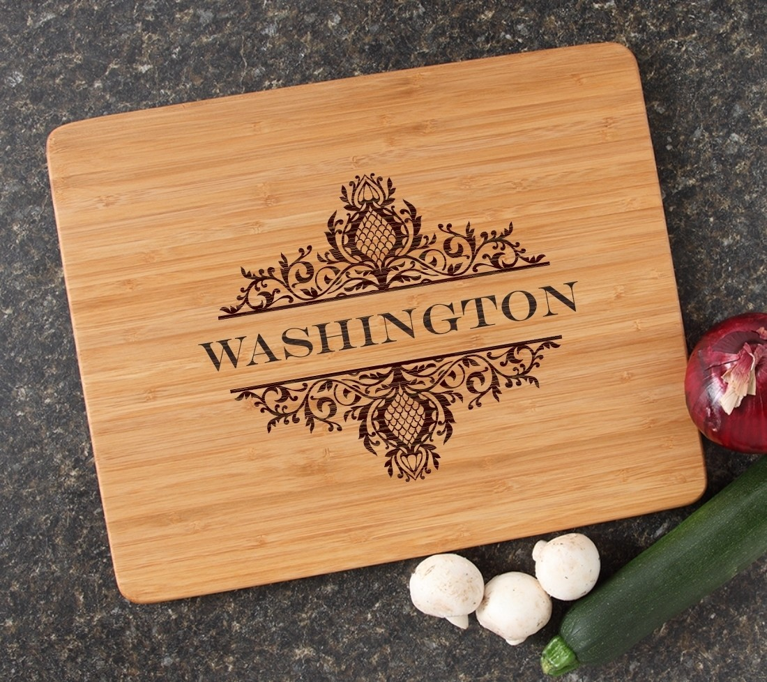 Engraved Bamboo Cutting Board Personalized 15x12 DESIGN 36