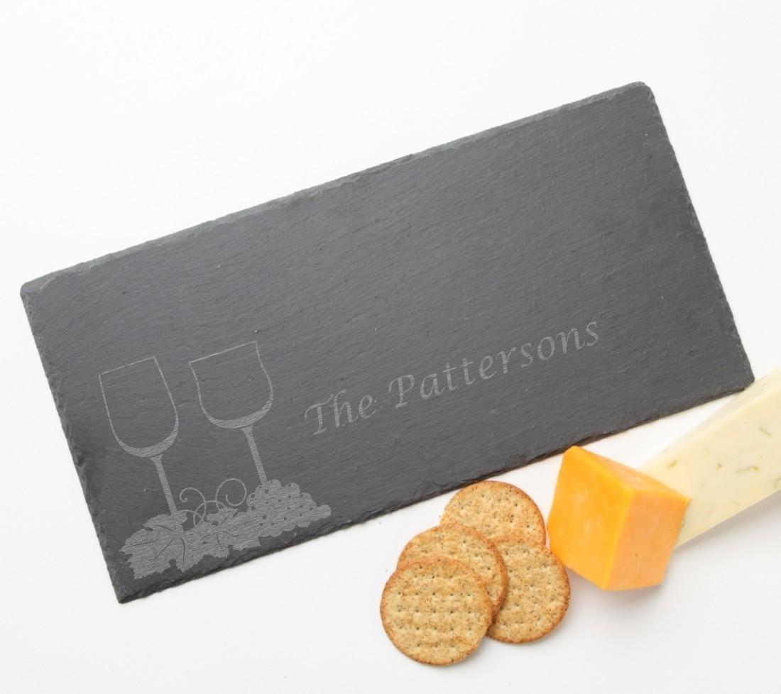 Personalized Slate Cheese Board 15 x 7 DESIGN 5
