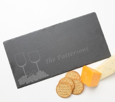 Personalized Slate Cheese Board 15 x 7 DESIGN 5