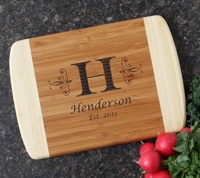 Personalized Cutting Board Custom Engraved 10 x 7 DESIGN 2