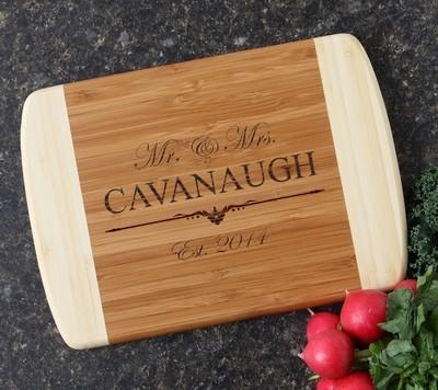 Personalized Cutting Board Custom Engraved 10 x 7 DESIGN 19