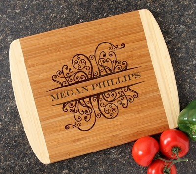 Personalized Cutting Board Custom Engraved 14x11 DESIGN 4