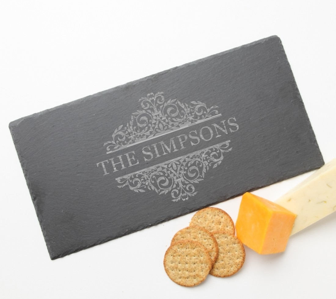 Personalized Slate Cheese Board 15 x 7 DESIGN 39