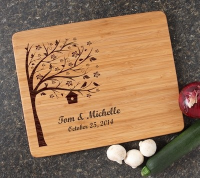 Engraved Bamboo Cutting Board Personalized 15x12 DESIGN 27