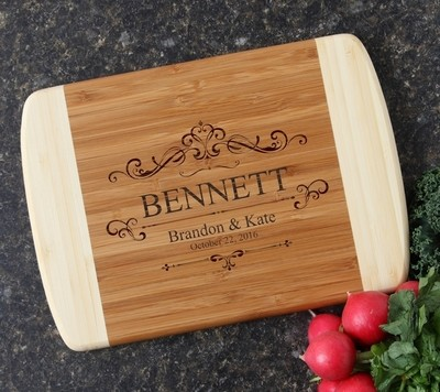 Personalized Cutting Board Custom Engraved 10 x 7 DESIGN 35
