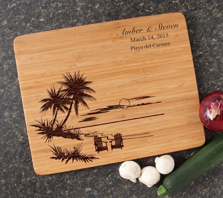 Engraved Bamboo Cutting Board Personalized 15x12 DESIGN 33