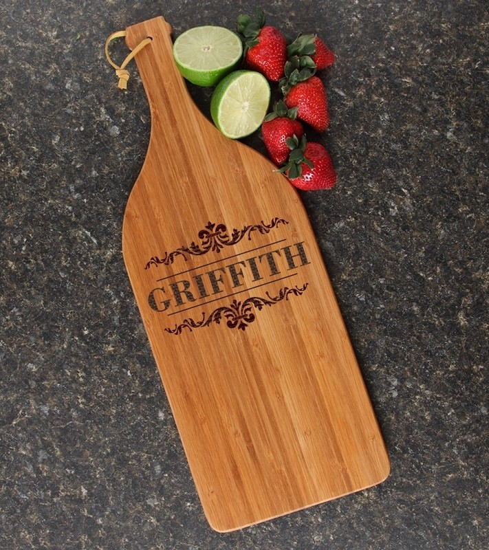 Personalized Cutting Board Engraved Bamboo 16 x 5 DESIGN 16