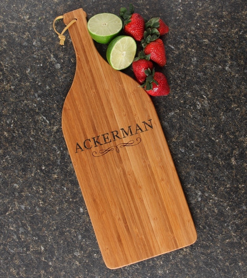 Personalized Cutting Board Engraved Bamboo 16 x 5 DESIGN 8