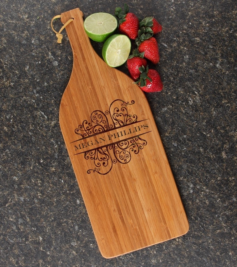 Personalized Cutting Board Engraved Bamboo 16 x 5 DESIGN 4
